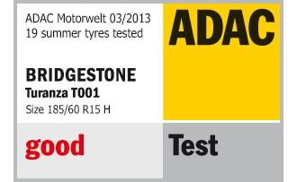 Testergebnis des ADAC für den Bridgestone Turanza T001